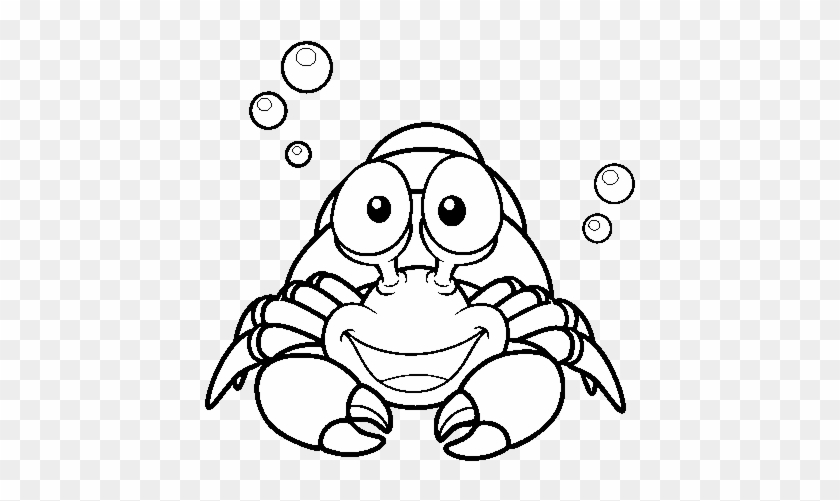 Hermit Crab Coloring Pages Hermit Crab Colouring Pages - Delos Animales Del  Mar Para Pintar - Free Transparent PNG Clipart Images Download