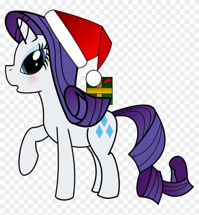 Christmas Hat Cartoon Transparent.Dbapplejack Blushing Christmas Hat Present Rarity
