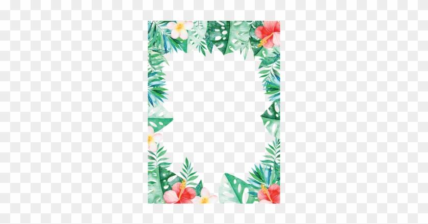 Tropical Border - Tropical Leaves Border #1004718