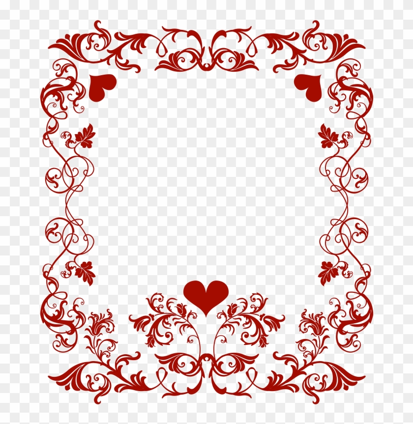 Pin Valentine Images Free Clip Art - Valentines Day Border Png #1005033
