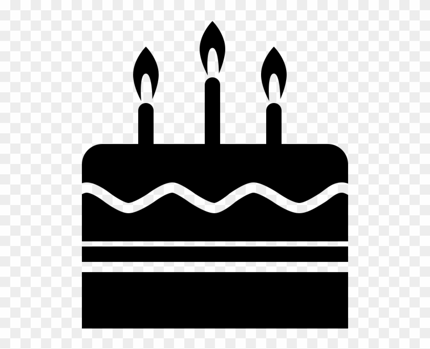 Birthday Cake Rubber Stamp Birthday Cake Icon Black And White