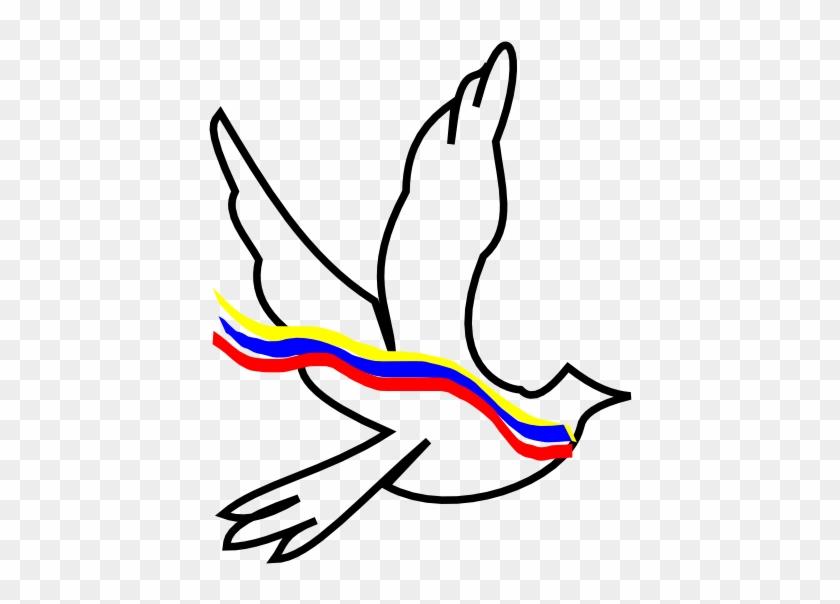 Palomacolo Black White Line Art Christmas Xmas Peace - Birds Flying Drawing #1005766