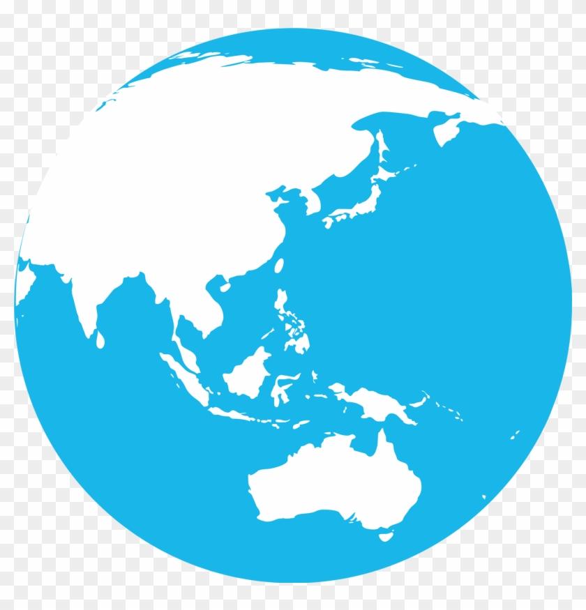Middle East Asia Globe Blue Marble Showing The Eps - Hari Sumpah Pemuda 2015 #1005850