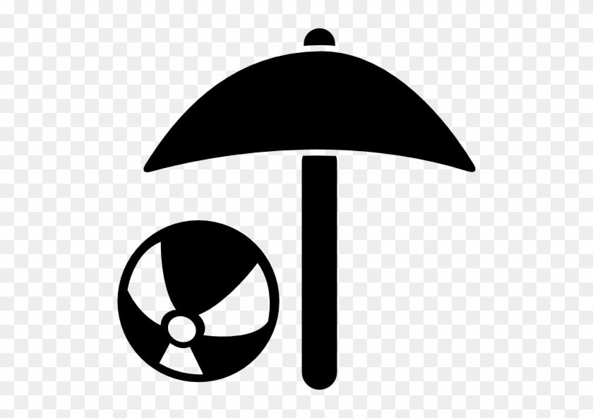 Beach Umbrella And Beach Ball Free Icon Beach Umbrella Icon Free
