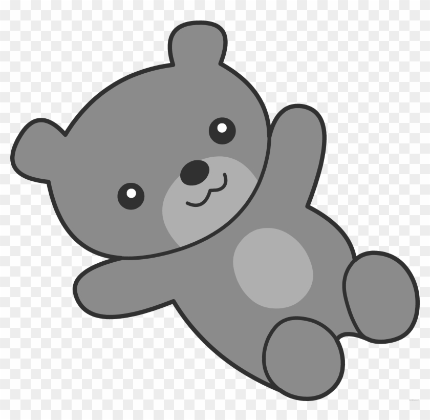 Cute Bear Animal Free Black White Clipart Images Clipartblack - Teddy Bear Baby Cartoon Png #1005969
