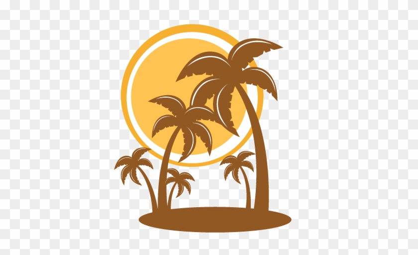 Pretty Free Merry Christmas Clipart Palm Trees Silhouette - Palm Trees Free Svg #1006137