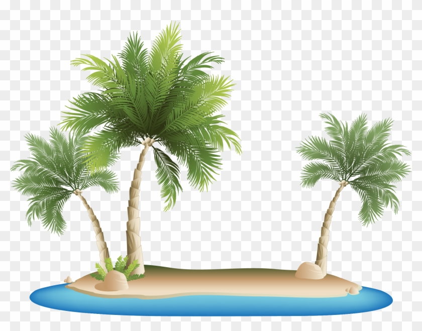 Palm Islands Tropical Islands Resort Clip Art - Palm Tree Beach Png #1006167