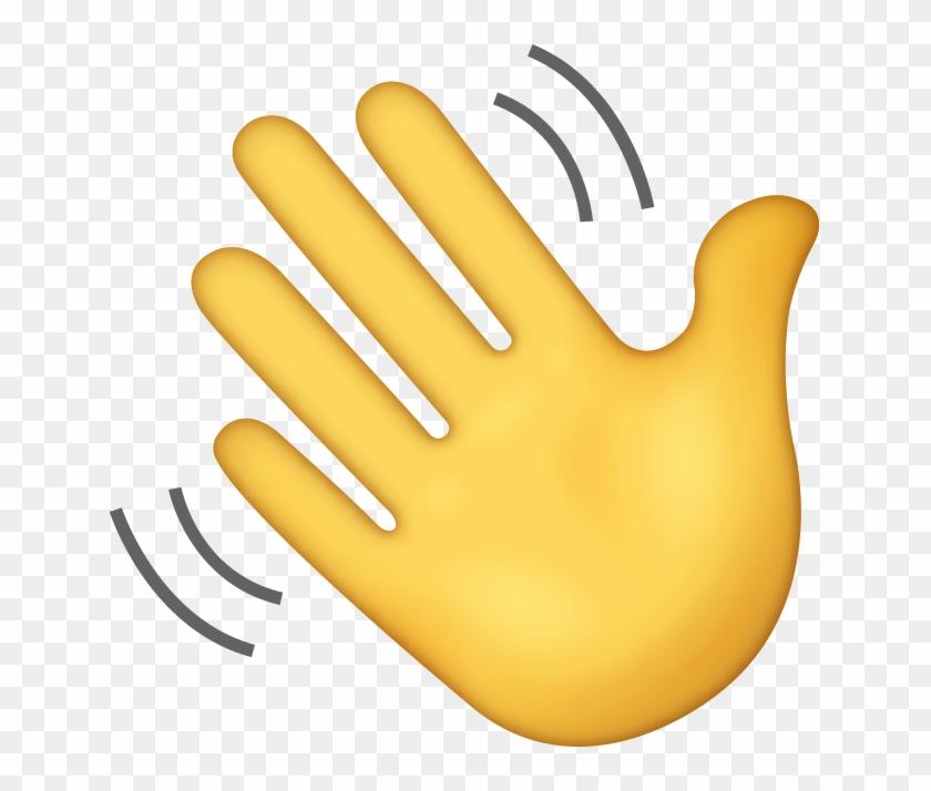 Waving Hand Sign Iphone Emoji Jpg - Waving Hand Emoji Png ...