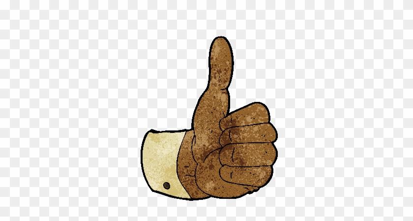 Cartoon Thumbs Up Symbol - Thumb Signal #1006698