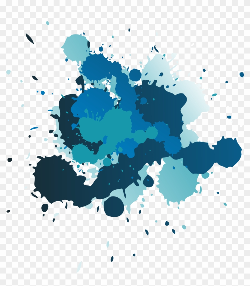 Splatter Clipart Png Image 08 - Blue Paint Splatter Png #1006728