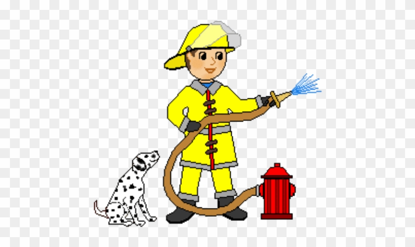 Black And White Firefighter Clipart - Fireman Clipart #1006836