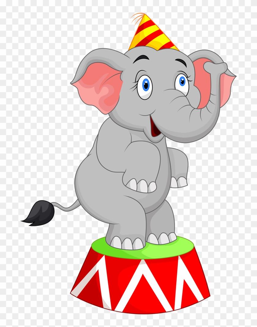 Carnival ~ Circus - Circus Elephant Clipart #1006920