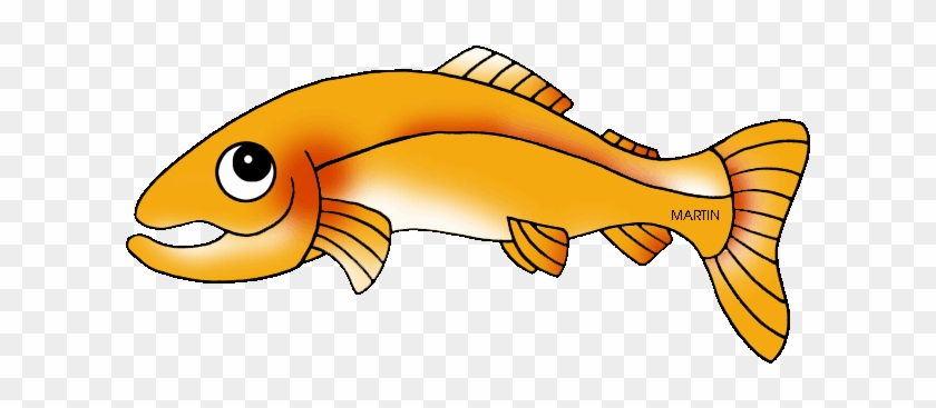 Fish Clipart Trout - California State Golden Trout #1007110