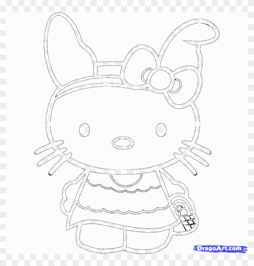 How To Draw Easter Hello Kitty Hello Kitty Easter Coloring Pages