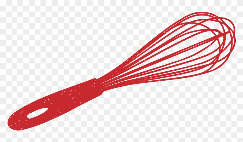 Red Clipart Whisk - Whisk Drawing Png #1007316