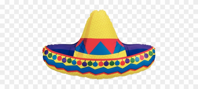 """34"""" Giant Sombrero Balloon Cinco De Mayo Decor Instaballoons - Cinco De Mayo Sombrero #1007382"""