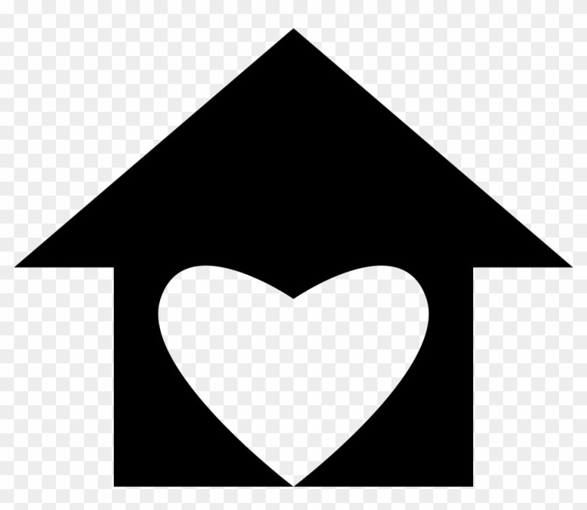 House With Love Heart Shape Comments - House Png Icon #1007418