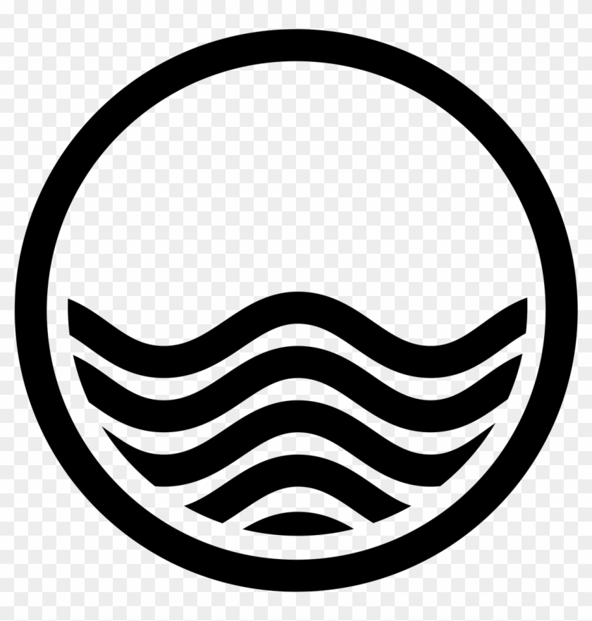 Waves Tidal Wave Clipart - Water Waves Vector Black And White #1007559