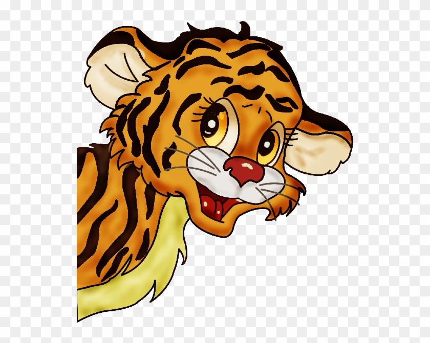 Tiger Cub Clip Art - Tiger Cub Cartoon Png #1007660