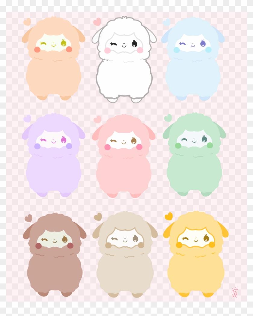 Pastel Rainbow Alpaca Stickers Are Available Now On - Kawaii Alpaca #1007740