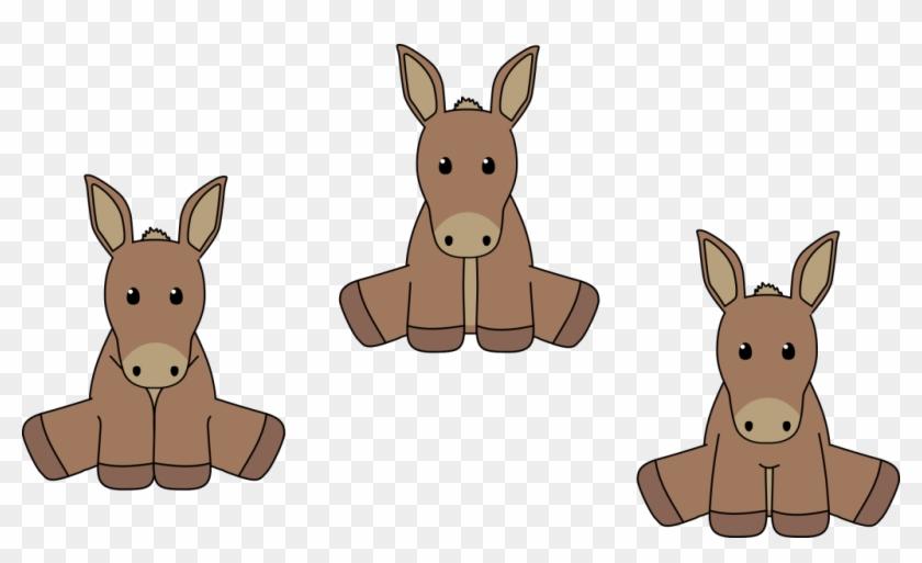 Donkey Free Png Transparent Background Images Free - 3 Donkeys Clipart #1007831