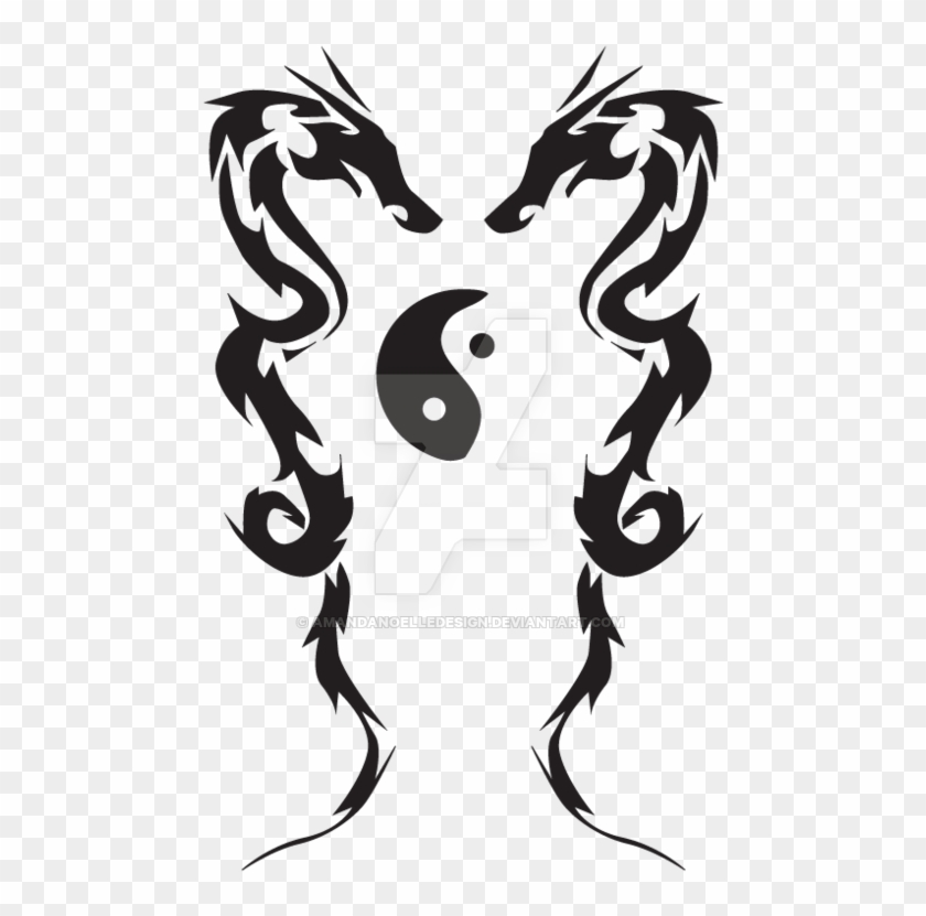 Tribal Love And Dragon Tattoo By Amandanoelledesign Tribal Love Tattoo Free Transparent Png Clipart Images Download
