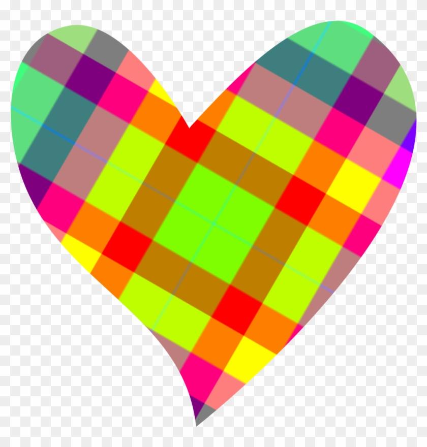 Image Of Heart Shaped Clip Art Medium Size - Colorful Heart Clip Art #1008155
