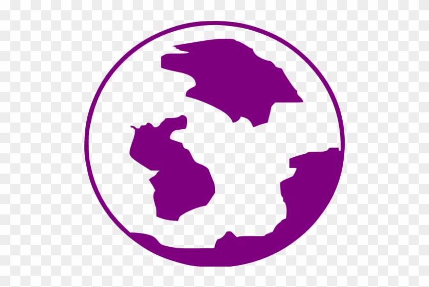Earth Clipart Purple - Purple Globe Icon Png - Free