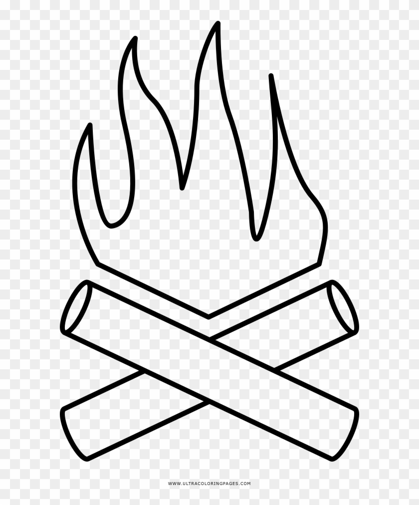 Campfire Coloring Page Pages Printable Free Pagescampfire Disegno