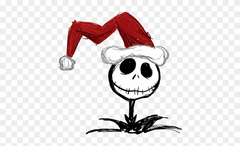 Nightmare Before Christmas Characters Clipart - Jack Skellington Christmas Hat #1009329