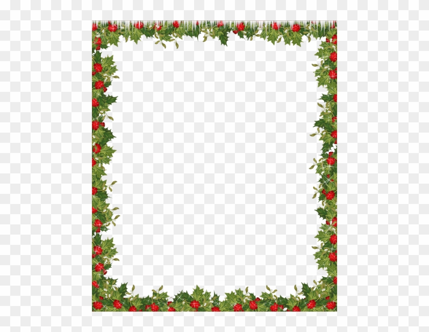 Holiday Transparent Frame - Christmas Border Clipart Png #1009451