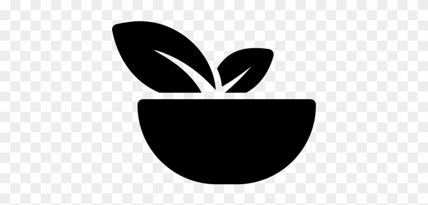 Bowl With Vegetables Vector - Vegan Icon Png - Free