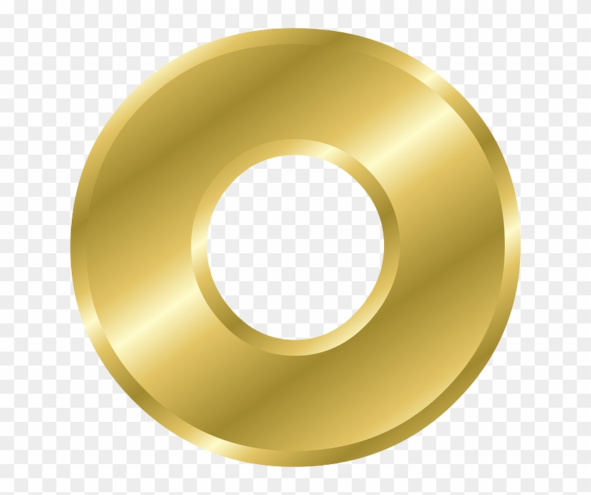 Letter, O, Lowercase, Alphabet, Abc, Gold, Gradient - Alphabet Letters In Gold #1009798