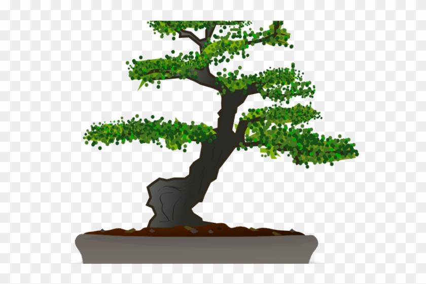 Bonsai Clipart Japanese Art - Bonsai Tree Round Ornament #1009932