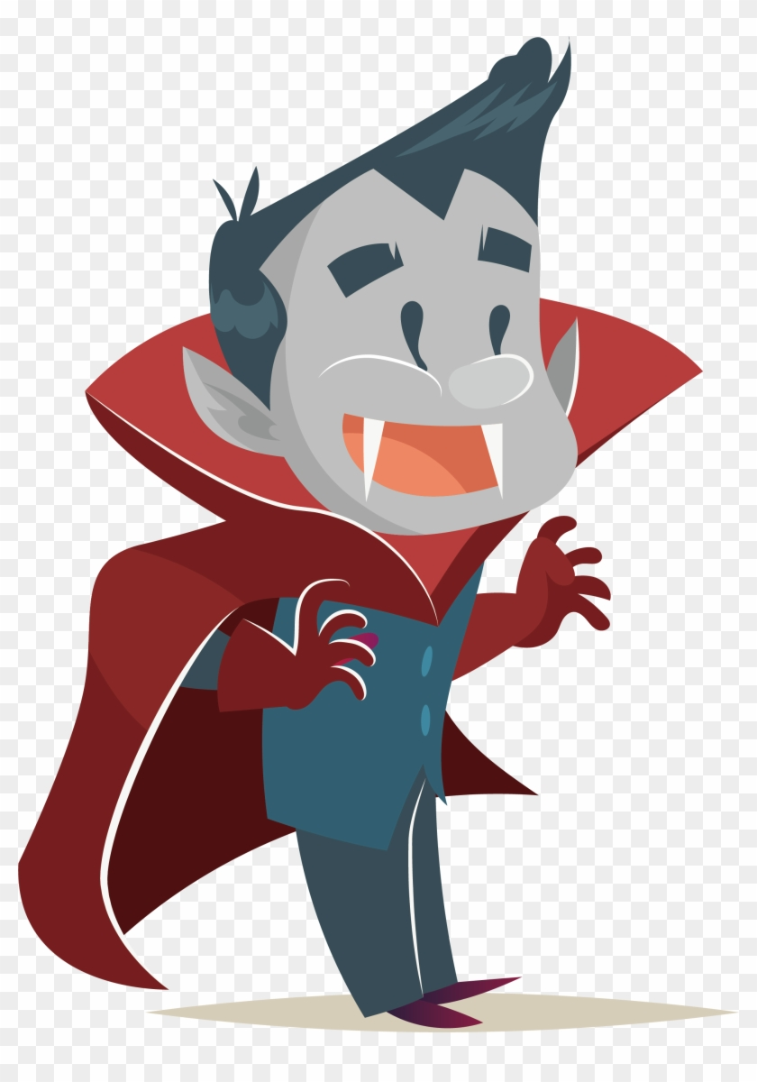cartoon animation halloween illustration - cartoon vampire png