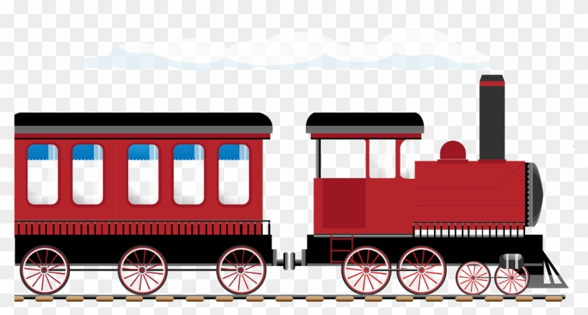 Train Rail Transport Steam Locomotive Illustration - Steam Locomotive #1010392