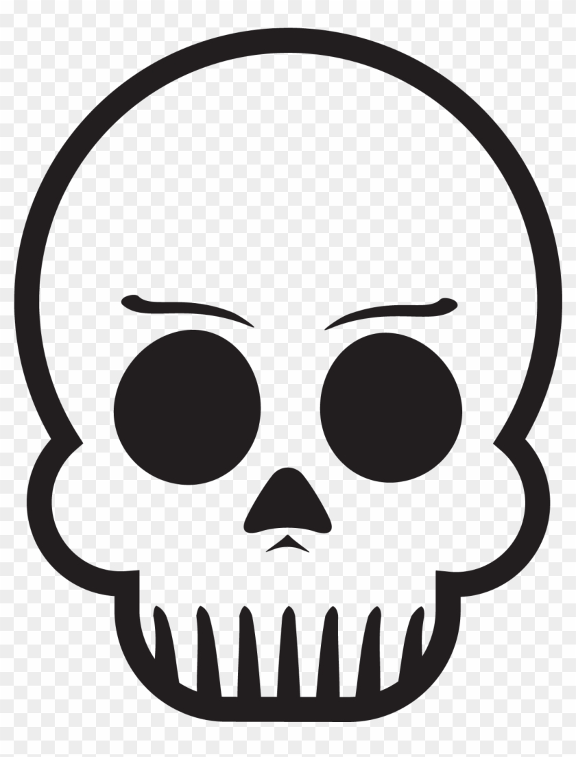 Skull With Eyebrows - Skeleton With Eyebrows #1010613