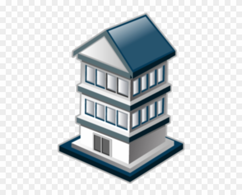 Fire Station Icon Free Images At Clker Com Vector Clip - Apartment Icon #1010662