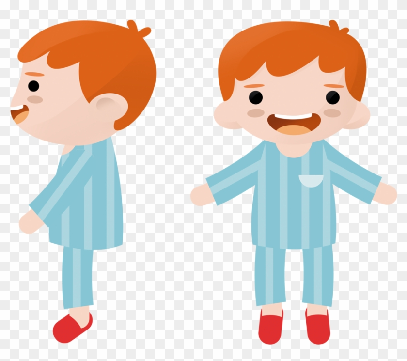 Clipart Boy Front And Back #1010710
