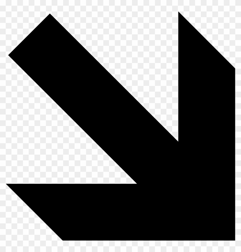 Right And Down Arrow Clip Art At Clker - Pfeil Nach Unten Rechts #1010758
