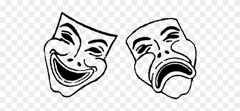 Drama Masks Clipart - Comedy And Tragedy Masks #1011099