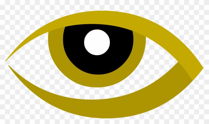Eyeball Clipart Logo Design - Eye Logo In Gold Png #1011318