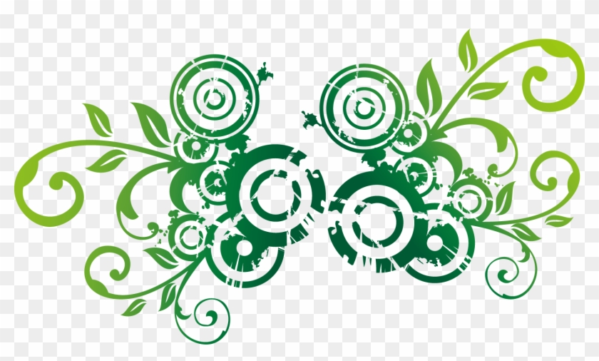 Green Environmental Protection - Floral Flower Wall Sticker 206 #1011575