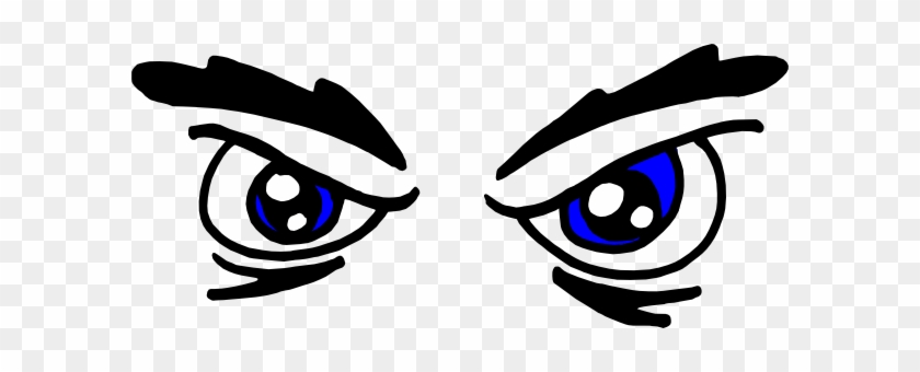 Brown Eye Clip Art - Angry Eyes Clipart #1011653