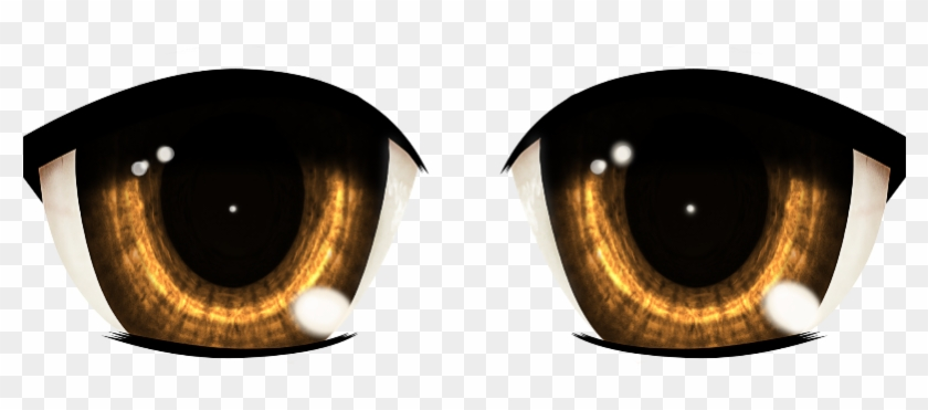 Brown Eyes Clipart Transparent Background - Brown Anime Eyes Png #1011656