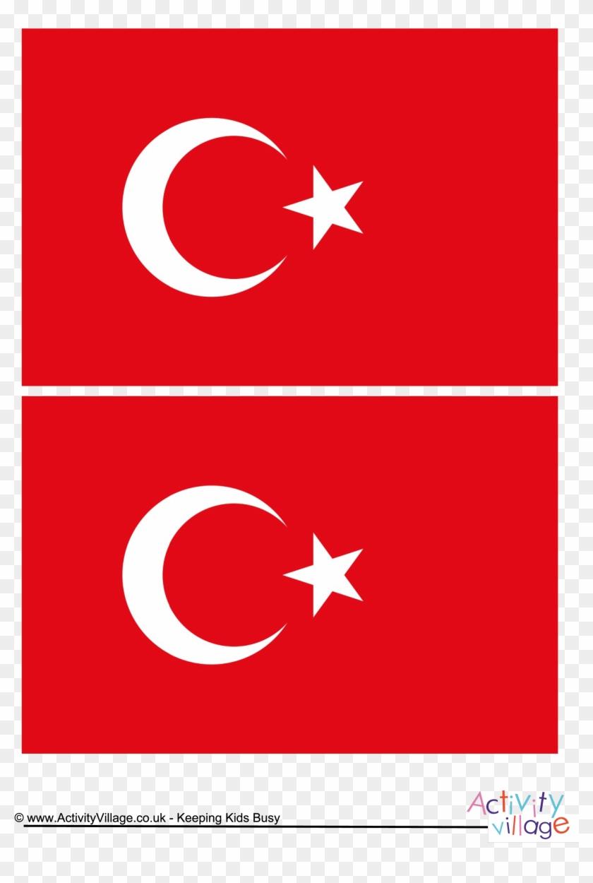 download this free printable turkey template a4 flag türk bayrağı