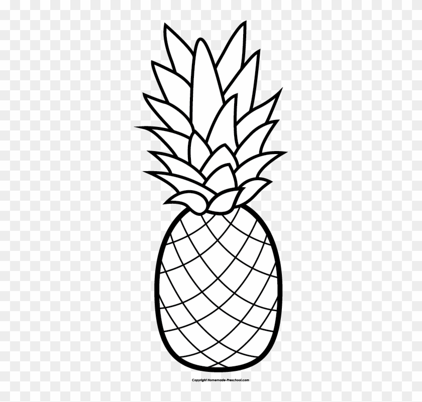 Pineapple Clipart Winter Cute Pineapple Coloring Pages Free