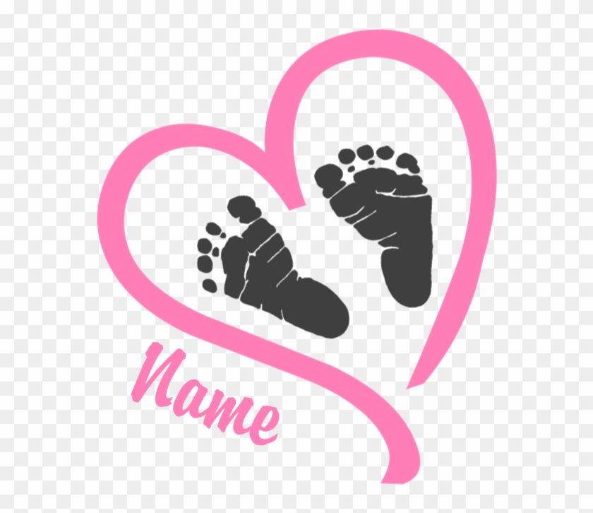 Baby Feet Pink Personalized Maternity Tank Top - Heart With Baby Feet #1012578