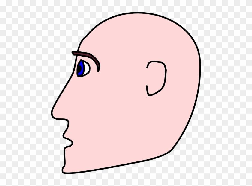 Eyes,guy - Cartoon Side Profile #1012738