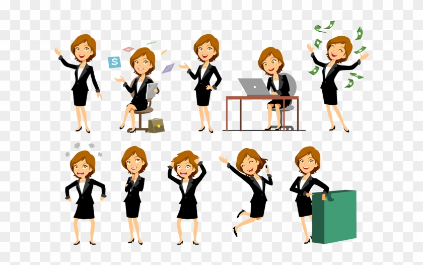 Vector Group Image - Business Woman Vector Characters - Free